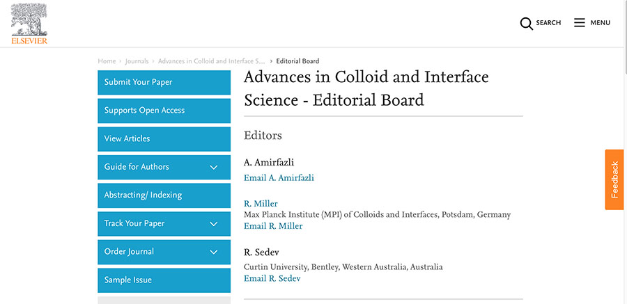 Debora Berti, member of the CSGI team has been appointed in the Editorial Board of Advances in Colloid and Interface Science.